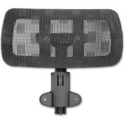 Lorell 85560 Mesh Headrest - Black - Nylon - 10each