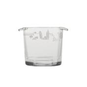 Atlanta Skyline Etched Glass Ice Bucket - 1120mls