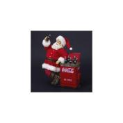 28cm Coca-Cola® Santa Claus with Cooler Table Top Christmas Figure