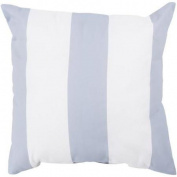 46cm Light Grey and Ivory Beach Striped Decorative Throw Pillow