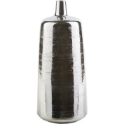 43cm Chic Endeavours Glossy Charcoal Grey Decorative Ceramic Vase