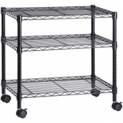 Honey-Can-Do 3-Shelf Steel Cart with Locking Wheels