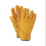 MAGID GLOVE & SAFETY MFG. Suede Leather Work Gloves, Men's Large