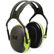 Peltor X4A Earmuff - Foam, Steel Liner - 1/ Each - Black, Green