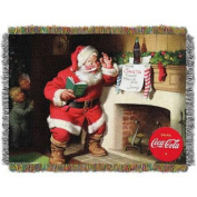 """Coca-Cola """"Note to Santa"""" 120cm x 150cm Woven Tapestry Throw"""
