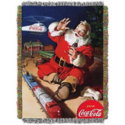 """Coca-Cola """"Santa Helicopter"""" 120cm x 150cm Woven Tapestry Throw"""