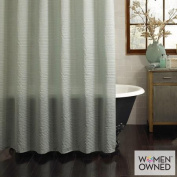 Excell Galloway Fabric Shower Curtain, Aqua