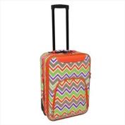 All-Seasons 816701-171 50cm Chevron Multi-Print Rolling Carry-On Luggage Suitcase, Orange