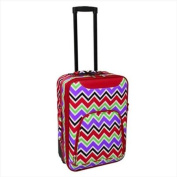 All-Seasons 816701-170 50cm Chevron Multi-Print Rolling Carry-On Luggage Suitcase, Red