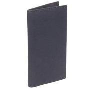 Paul & Taylor Mens Grey Genuine Leather Chequebook Cover Bifold Wallet NEW