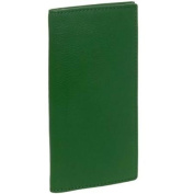Paul & Taylor Mens Dark Green Genuine Leather Chequebook Cover Bifold Wallet NEW