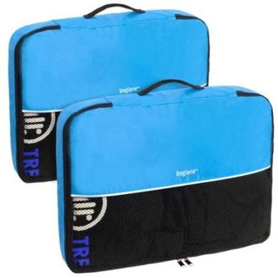 Baglane Aquamarine TechLife Nylon Luggage Packing Cube Bags -2pc Set (Large)