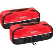 Baglane Red TechLife Nylon Luggage Travel Packing Cube Bags -2pc Set