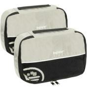 Baglane Grey TechLife Nylon Luggage Travel Packing Cube Bags - 2pc Set