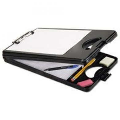 7520016222122 Skilcraft Deskmate Ii Plastic Storage Clipboard; Black
