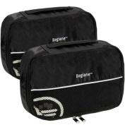 Baglane Black TechLife Nylon Luggage Travel Packing Cube Bags -2pc Set