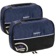 Baglane Navy TechLife Nylon Luggage Travel Packing Cube Bags -2pc Set