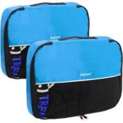 Baglane Aquamarine TechLife Nylon Luggage Packing Cube Bags -2pc Set