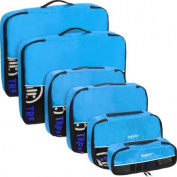 Baglane Aquamarine TechLife Luggage Packing Cube Bags - 6pc Set