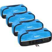 Baglane Aquamarine TechLife Nylon Luggage Packing Cube Bags -4pc Set