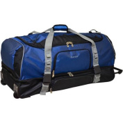 Protege 90cm Drop-Bottom Rolling Duffel, Blue with Black