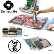 10pc Samsonite Vacuum Storage Bags Set Compress Protect Organise Clothes Bedding