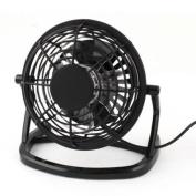 DC5V 2.5W Black PC Computer Laptop Notebook USB Desk Mini Cooling Fan