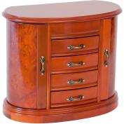 Tory Leigh Wooden Jewellery Box, Burlwood Oak Finish