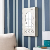 Zoey Shabby Chic Wall Mounted Mirrored Jewellery Armoire