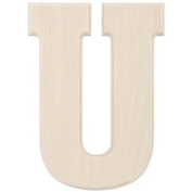 MPI Baltic Birch University Font Letters and Numbers, 13cm , Letter-U Multi-Coloured