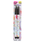Tulip Fine Writer Fabric Markers 2/Pkg-Black