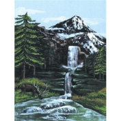 Royal & Langnickel PCS1 Painting by Numbers 9 x 12 Artist Canvas Series Set Mountain Waterfall