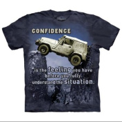 The Mountain Blue Cotton Jeep Outdoor Design Novelty Parody Adult T-Shirt
