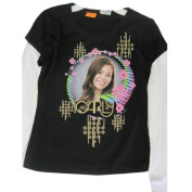 Disney Girls Black ICarly Character Bubble Image Long Sleeve T-Shirt 7-8