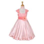 Princess Diaries Big Girl's Satin Lace Flower Girl Easter Dress