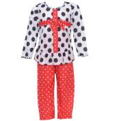 Laura Dare Little Girls Black White Red Dot Bow Package 2 Pc Pyjama Set 5