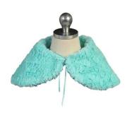 Angels Garment Girls Mint Blue Short Faux Fur Shoulder Collar Cape 10