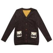 Richie House Little Boys Black Rabbit Pockets Cardigan Sweater 5/6