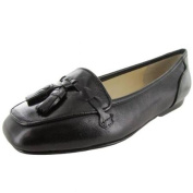 Enzo Angiolini Womens Love Vine Leather Loafer Shoe, Black Leather, US 4.5