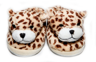 Cheetah Baby Slippers by Babymio - CHSLIP300, For ages 24 mo