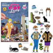 Dress-Up Crazy Cat Lady 110 Reusable Cling Stickers