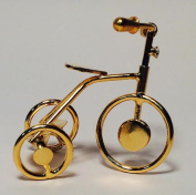 Dollhouse Furniture Gold Tricycle