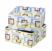 Honey-Can-Do SFT-01569 Accessory Drawers for Hanging Organiser, Green/Blue/Brown