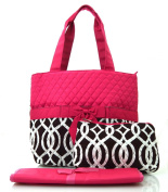 NGIL Brown Vine Print Quilted Nappy Bag