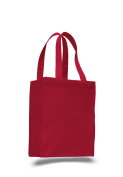 Pack of 6 - Cottom Canvas Gusset Shopping Tote Bag - Size 27cm w X 36cm h X 13cm d