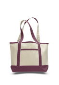 Pack of 6 - Small Canvas Deluxe Tote Bag - Size 47cm w X 30cm h X 14cm d