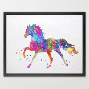 Dignovel Studios 8X10 horse watercolour print new baby gift baby shower gift nursery décor home décor wall art print fine art print kids art print playroom art N104