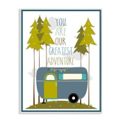 The Kids Room by Stupell You Are Our Greatest Adventure Art Wall Plaque, Blue/Green