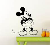 Mickey Mouse Wall Decal Cartoon Disney Vinyl Sticker Home Nursery Room Interior Art Decoration Any Kids Girl Boy Room Mural Waterproof High Quality Vinyl Sticker