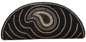 Spice Art Black Beaded Embroidered Clutch